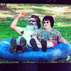 Cutest couple you ever saw. Rednecks. Duck Dynasty.