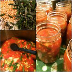 Pressure Canning.... Vegetable Soup