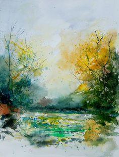"Saatchi Online Artist: Pol Ledent; Watercolor 2013 Painting ""watercolor 905081"""