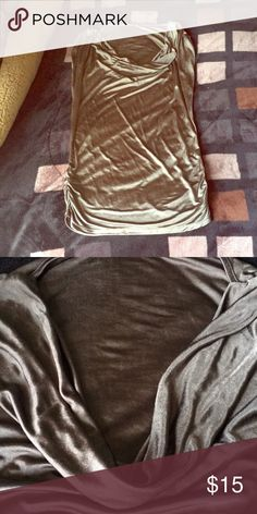 Brown scooped shirt Worn once. It's xs/s. Scooped neck short sleeves. VENUS Tops Blouses