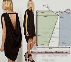 PASSO A PASSO MOLDE DE VESTIDO Corte dois retângulo de papel com a altura e largura que pretende para as frentes e costas. Dobre ao meio os retângulos. Des