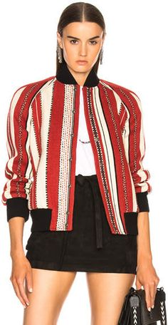 #affiliatead -- Saint Laurent Reversible Teddy Bomber Jacket -- #chic only #glamour always