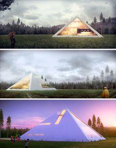 Futuristic Pyramid House Fit for an Ultra-Modern Pharaoh | Dornob
