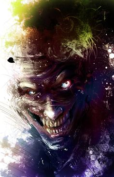 Finally finished Death of the Family, been years since I last read any Batman comics. I really like the new Joker look ಠ‿ಠ he's weirdl. The Joker Art Du Joker, Le Joker Batman, Batman Comic Art, Joker And Harley Quinn, Marvel Dc Comics, Batman Artwork, Gotham Comics, Joker Comic, Film Tim Burton
