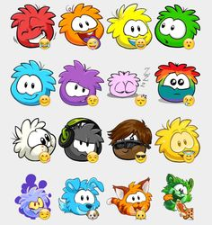 Puffles Stickers Set | Telegram Stickers