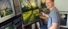 Lars Light-9 - a West end Artist - love his  Jacaranda Tree next to the Brisbane River painting