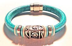 Leather Bracelet, Regaliz Greek licorice leather,PICK YOUR SIZE | egrobeck - Jewelry on ArtFire