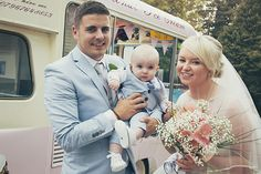 Bride, groom and their baby boy - Tara & Jack Wedding - More in the blog! by Ana Gely A. Photography