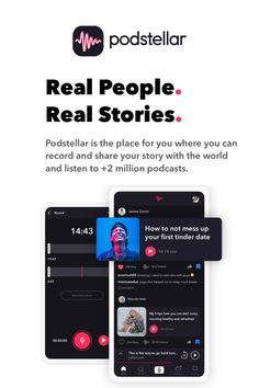 What is your Story?  Podstellar the new social podcasting app, available now in the App-Store for iOS devices! Tinder Dating, Mess Up, App Store, Real People, Your Story, Innovation, Ios, Marketing, Inspiration