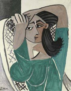 Femme se coiffant II - Pablo Picasso - 1956