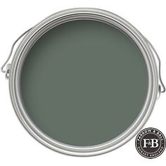 Farrow & Ball Smoke Green paint color is a sophisticated, moody, deep mossy green. #paintcolors #farrowandball #smokegreen