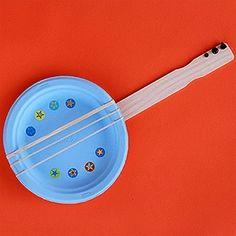 paper plate guitar craft