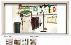 "rubbermaid fast track garage organization system. top rail: 7'3"" bottom: 4'10"""