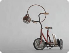 """Il Gino"" Tricycle lamp by Elisa Cavani   Manoteca"