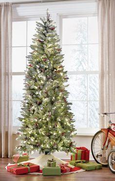 This Slim Christmas Tree Is Glowing Homedecorators Holidays Holiday2017