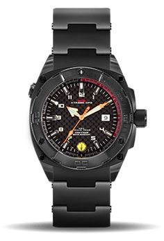 The MTM Black Seal Watch for men is a tactical dive watch with a carbon fiber dial, helium pressure release valve and locking screw down crown. Mtm Special Ops, Sporty Watch, Watches For Men, Casual Watches, Casio Watch, Carbon Fiber, Diving, Military, Crown