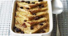 Broodpudding met rozijnen