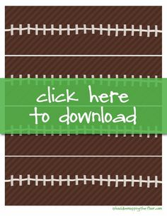 Are you ready for Game Time? These Football Party Ideas, free printables and convenience foods from Nestle can make planning your gathering ... sports party food