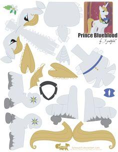 Prince Blueblood Papercraft by ~FyreWytch on deviantART