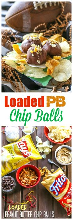 Loaded Peanut Butter Chip Balls - peanut butter combined with crushed Lays and Fritos then dipped in chocolate. The sweet and salty combo is to die for. the-girl-who-ate-everything.com