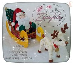 Papai noel no treno puxado por rena com moldes para imprimir - Como Faço Decor Crafts, Crafts To Make, Christmas Crafts, Christmas Ornaments, 242, Felt Patterns, Diy Weihnachten, Felt Christmas, Toys