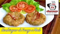 Receita de Hambúrguer de Frango a Moda - Tv Churrasco