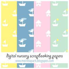 Free digital nursery scrapbooking papers - ausdruckbares Geschenkpapier - freebie | MeinLilaPark – DIY printables and downloads