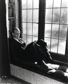 Window seat with bookshelves (and Fred Astaire)