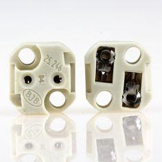 6 x Keramik Fassung G4 mit Kabel Sockel GU5.3 Niedervolt Halogen Lampenfassung