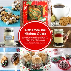 Gifts From The Kitchen Holiday Guide with over 50 recipes to give loved ones for Christmas