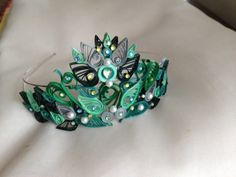 Quilled Tiara - Shades of Forrest:  Magic On The Rox