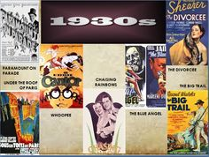 Some movies of 1930s.