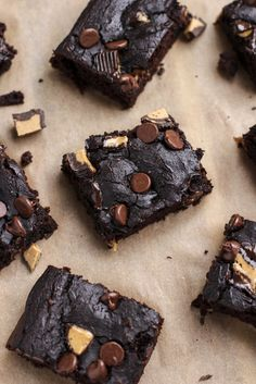 Incredibly chocolatey & indulgent black bean brownies that will knock your socks off! No flour, butter or white sugar = healthy chocolate peanut butter chunk brownies you can eat anytime you want! Dairy-free, gluten-free and vegetarian.