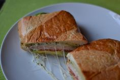 TURKEY BACON AVOCADO PANINI http://afewshortcuts.com/2013/02/turkey-bacon-avocado-panini/