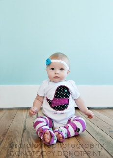CHIC CHICADEE2 piece appliqued Onesie and by mamarunswithscissors, $29.00