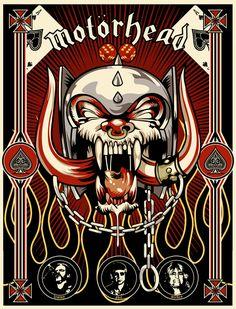 Dean's room - Poster on his wall Arte Heavy Metal, Heavy Metal Rock, Heavy Metal Music, Heavy Metal Bands, Lemmy Kilmister, Eddie Clarke, Arte Punk, Rock Band Posters, Tribute