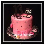 MAC Makeup Birthday Cake. Tastries Bakery, Designer Cakes