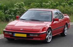 1990 Honda Prelude | PRELUDE 88-91 3rd: Honda Prelude 4WS 1990 G3 Front View Red My fourth car loved it!!! Especially the flip up lights