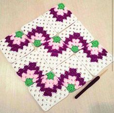 Crochet Bedspread, Crochet Quilt, Crochet Blocks, Crochet Motifs, Knit Crochet, Granny Square Crochet Pattern, Crochet Squares, Crochet Blanket Patterns, Knitting Patterns
