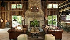 Most Design Ideas Rustic Barn Style Living Room Pictures, And Inspiration – House Design Ideas Living Room New York, Living Rooms, Converted Barn, Barn Renovation, Barn Living, Living Area, Country Living, Pole Barn Homes, Rustic Barn