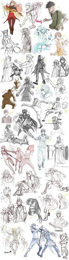 Sketch Dump 16 by Namonn on DeviantArt Character Concept, Character Art, Concept Art, Art Sketches, Art Drawings, Character Design References, Character Design Inspiration, Drawing Reference, Art Tutorials
