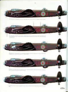Avro-Lancaster - L'Avro 683 Lancaster ('Lanc') est un bombardier quadrimoteur de la Seconde Guerre mondiale, initialement produit par la société Avro pour l'armée de l'air britannique. Entré en service en 1942, il est construit à plus de 7 000 exemplaires et est, avec le Handley Page Halifax, le principal bombardier de la Royal Air Force durant cette période. Il se rend célèbre pour ses bombardements de nuit. Il n'en reste, à l'heure actuelle, que deux appareils encore en état de vol. Wiki