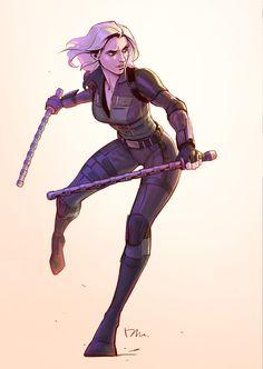 Black Widow fan art, Mina Lee