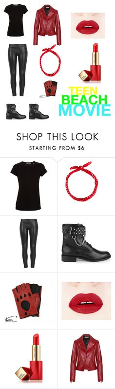 """""""Teen beach movie(biker outfit)"""" by violingirl2003 ❤ liked on Polyvore featuring Vince, MuuBaa, Yves Saint Laurent, Estée Lauder and Balenciaga"""