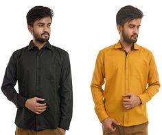 Mark Polo London Set Of 2 Solid Men's Formal Shirts In Multicolor  #Menshirts #menshirtsonline #Bestpriceshirts #Shirtsonline