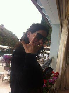 Paola Turci indossa l'anello della collezione firmata GIULIANAdiFRANCO