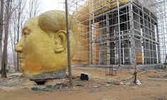 Huge Statue of Mao Zedong Built And Dismantled In Rural China  Lazer Horse