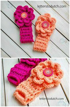 Crochet Newborn Headbands Pattern - Crochet Headbands for Babies - 28 Free Patterns - DIY & Crafts