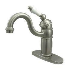 Single Handle Single Hole Bar Faucet with Porcelain Lever Handles