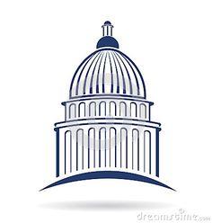 Capitol building Logo design concept